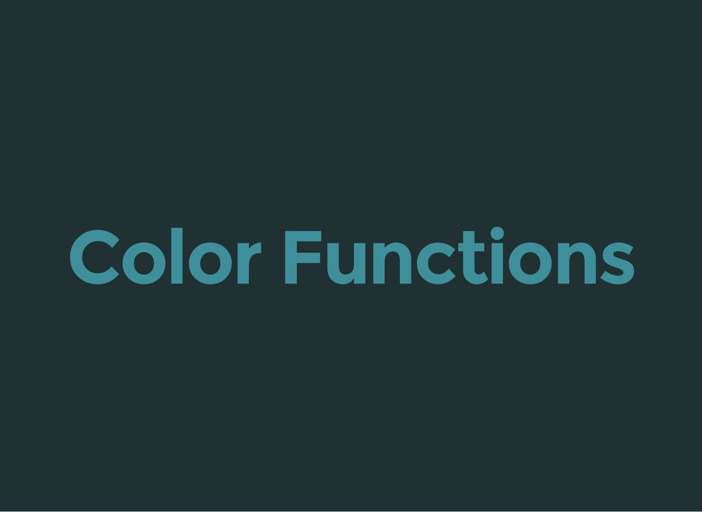Color Functions