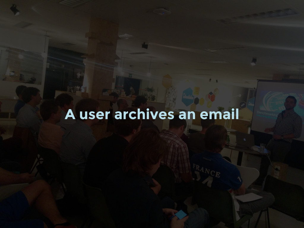 A user archives an email