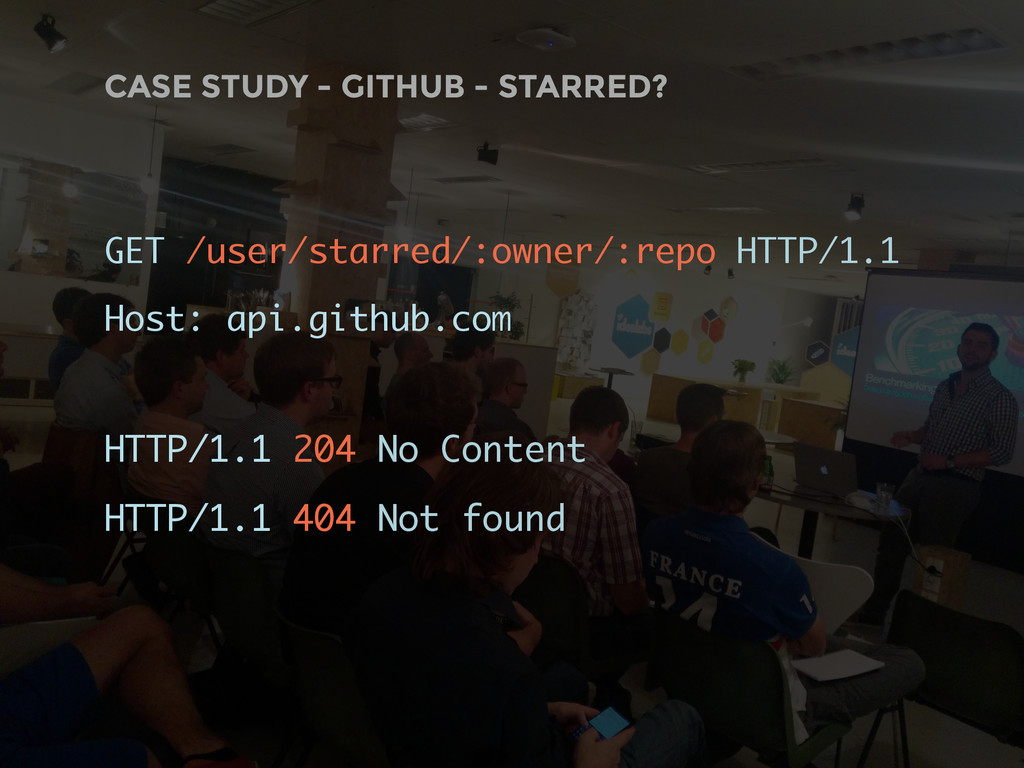 CASE STUDY - GITHUB - STARRED? GET /user/starre...