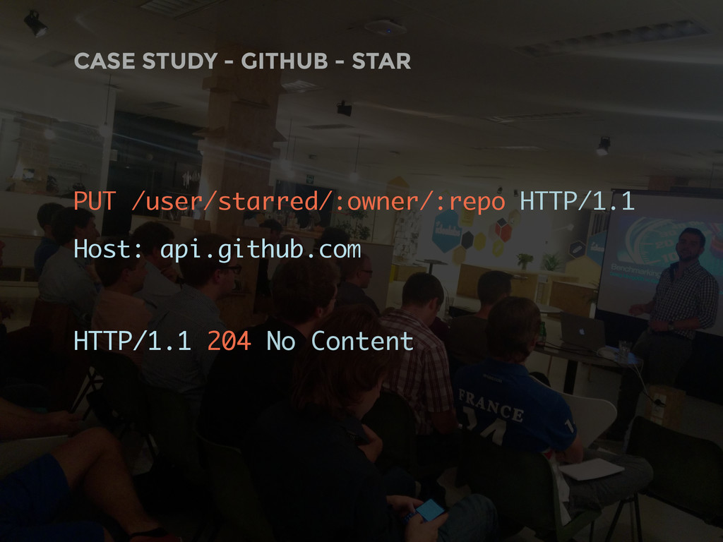 CASE STUDY - GITHUB - STAR PUT /user/starred/:o...