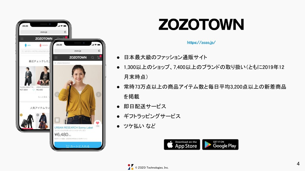 © ZOZO Technologies, Inc. https://zozo.jp/ ● 日...