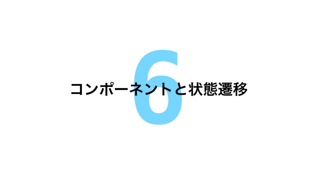 6 ίϯϙʔωϯτͱঢ়ଶભҠ