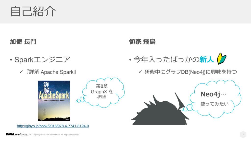 加嵜 ⻑⾨ • Sparkエンジニア ü『詳解 Apache Spark』 領家 ⾶⿃ • 今...
