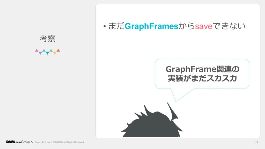 • まだGraphFramesからsaveできない Copyright © since 199...