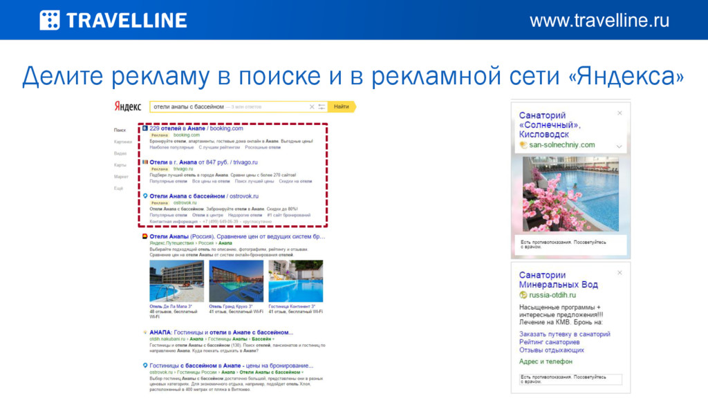 Делите рекламу в поиске и в рекламной сети «Янд...