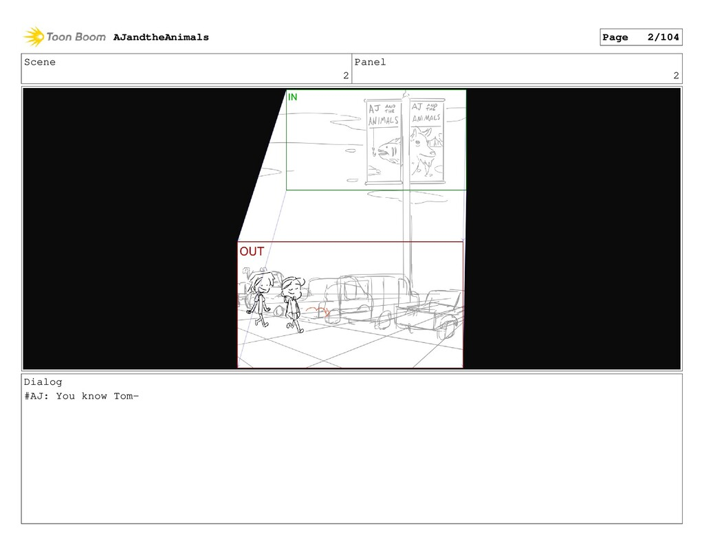 Scene 2 Panel 2 Dialog #AJ: You know Tom- AJand...