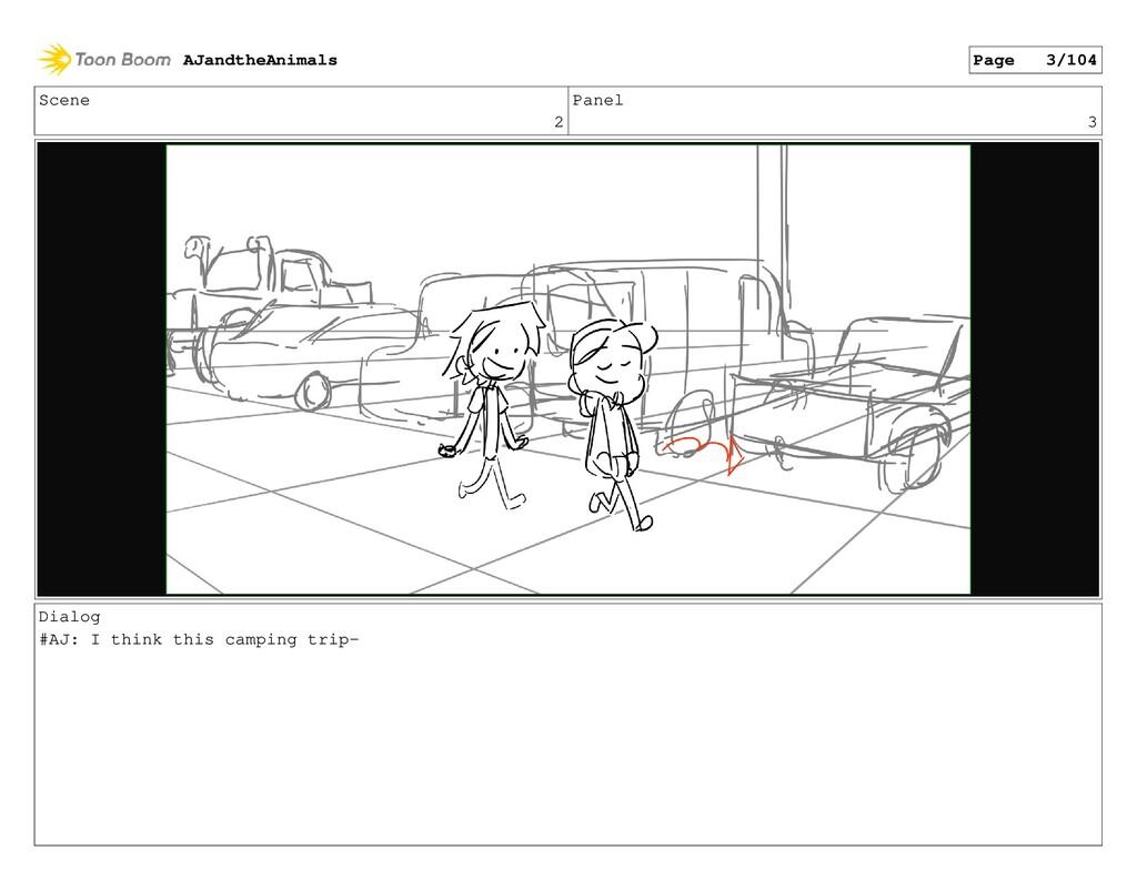 Scene 2 Panel 3 Dialog #AJ: I think this campin...
