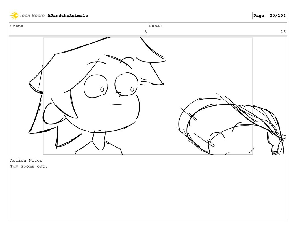 Scene 3 Panel 26 Action Notes Tom zooms out. AJ...