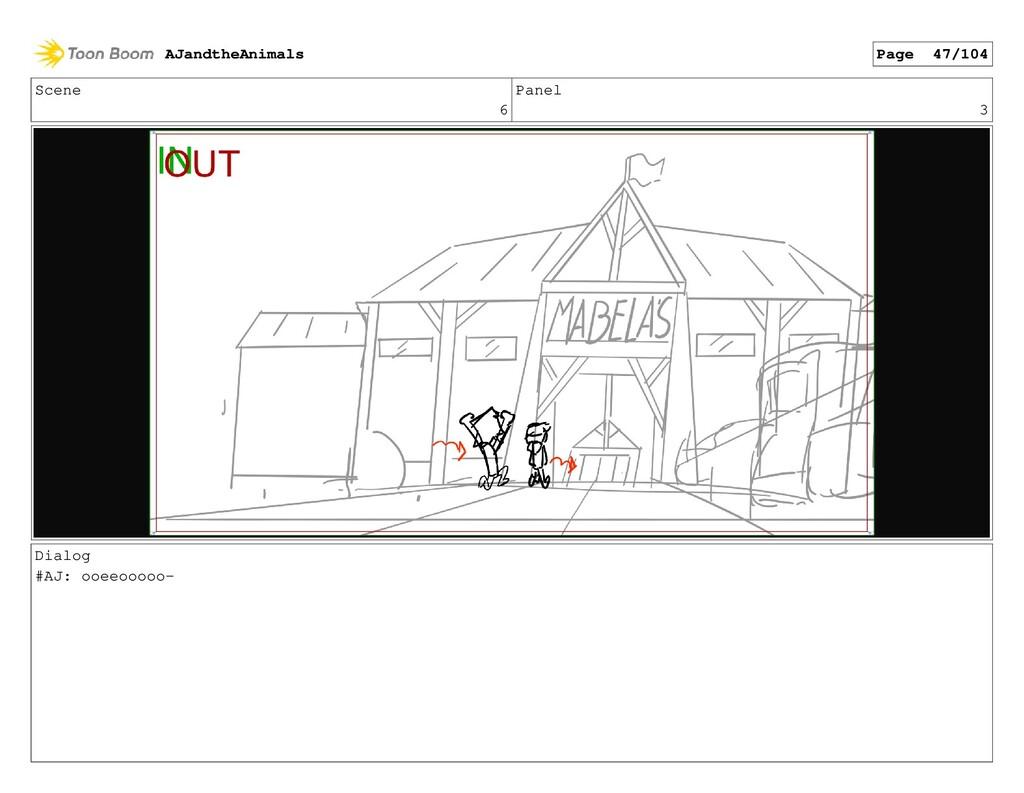 Scene 6 Panel 3 Dialog #AJ: ooeeooooo- AJandthe...