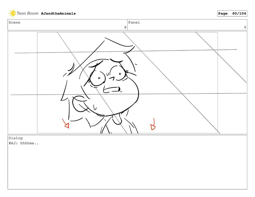 Scene 8 Panel 9 Dialog #AJ: hhhhee.. AJandtheAn...