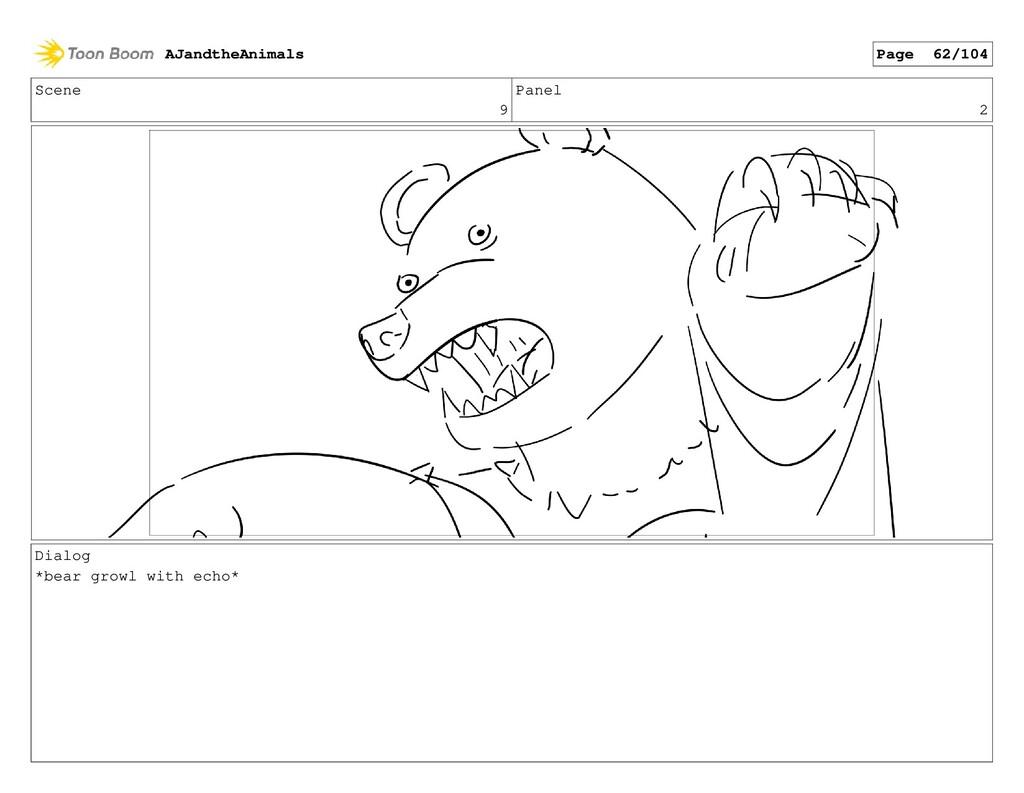 Scene 9 Panel 2 Dialog *bear growl with echo* A...