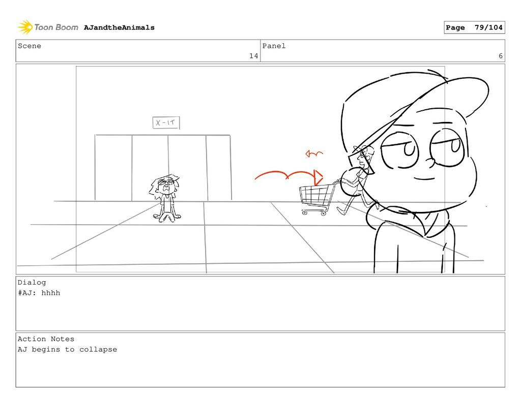 Scene 14 Panel 6 Dialog #AJ: hhhh Action Notes ...