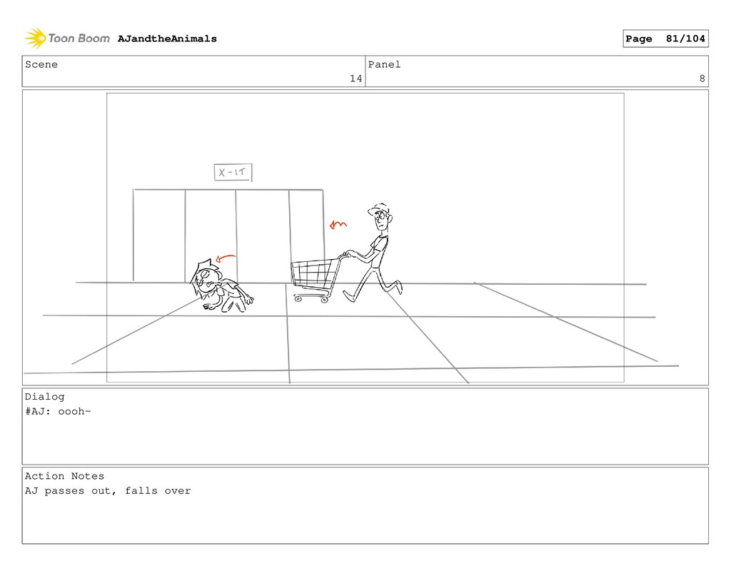 Scene 14 Panel 8 Dialog #AJ: oooh- Action Notes...