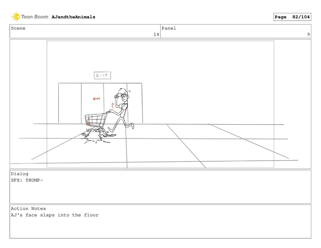 Scene 14 Panel 9 Dialog SFX: THUMP- Action Note...