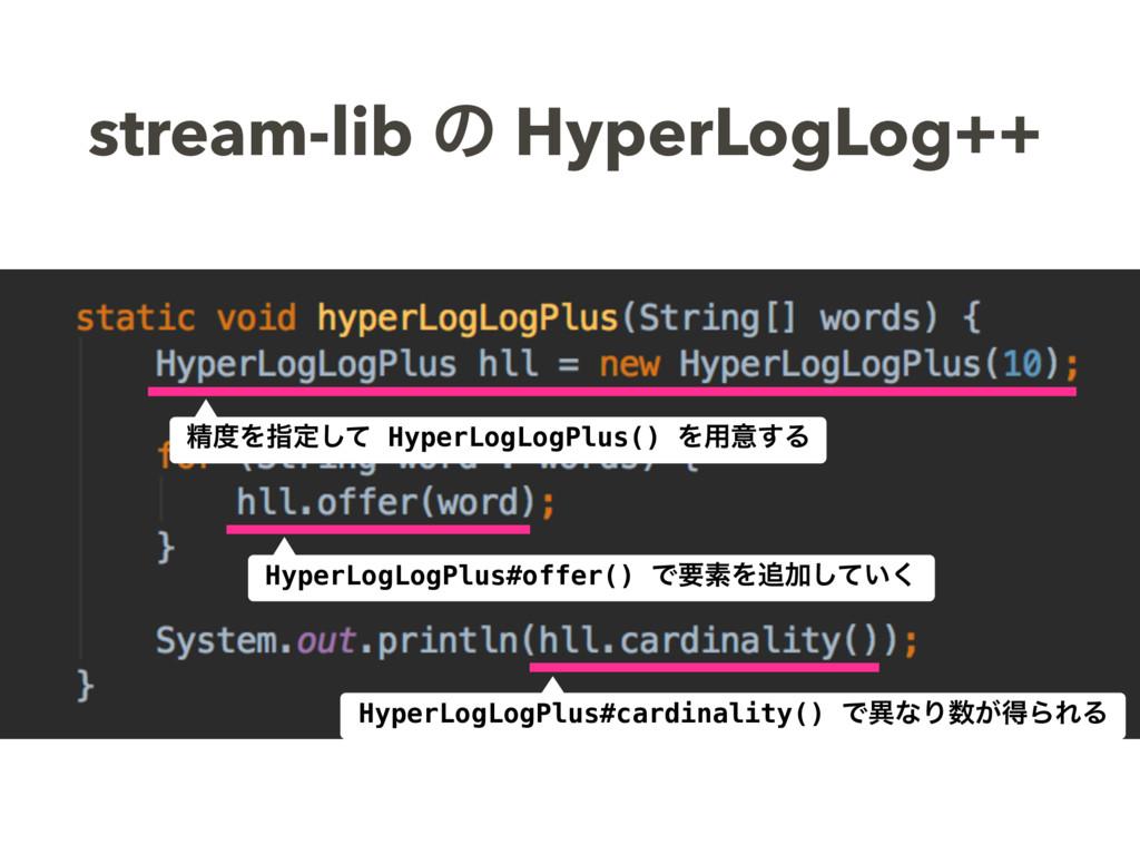 stream-lib ͷ HyperLogLog++ ਫ਼Λࢦఆͯ͠ HyperLogLogP...