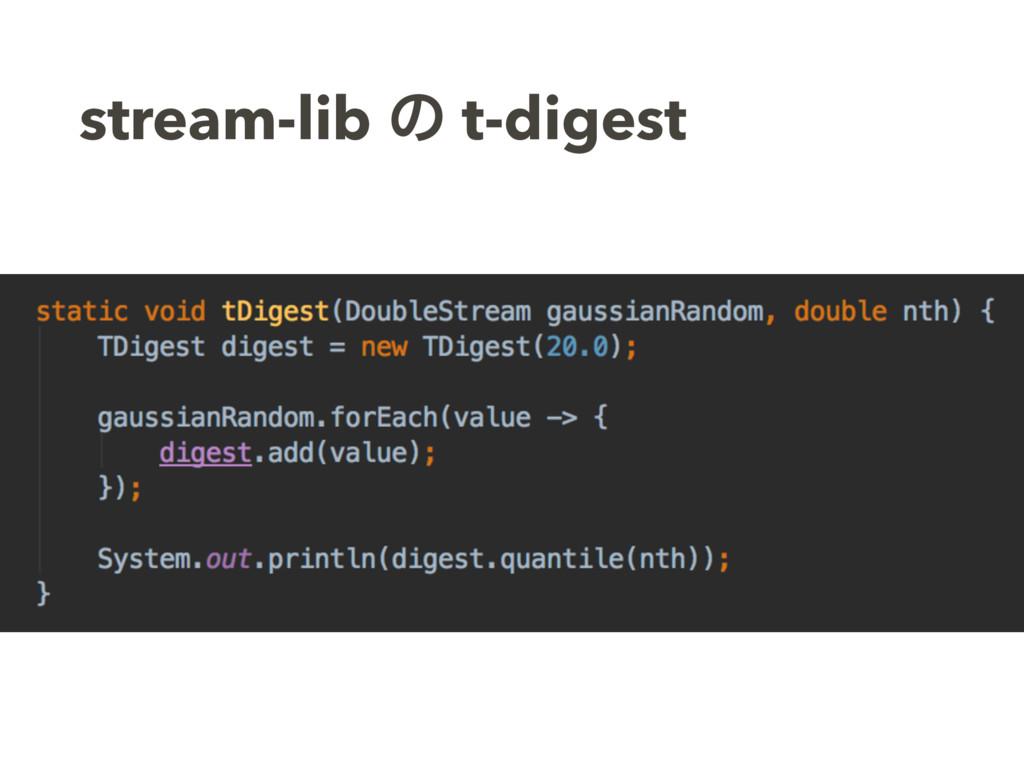 stream-lib ͷ t-digest