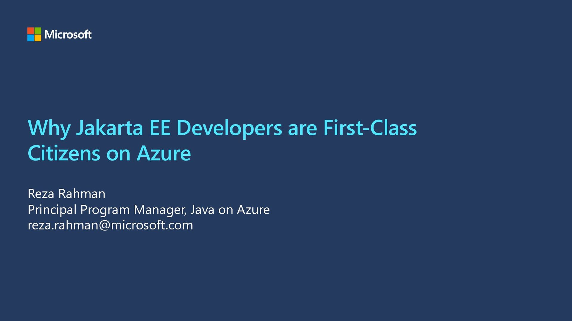 Why Jakarta EE Developers are First-Class Citiz...