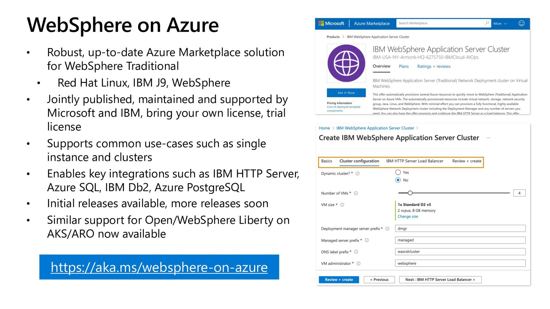 WebSphere on Azure • Robust, up-to-date Azure M...