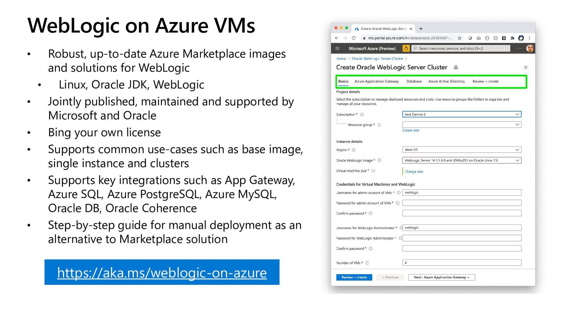 WebLogic on Azure • Robust, up-to-date Azure Ma...