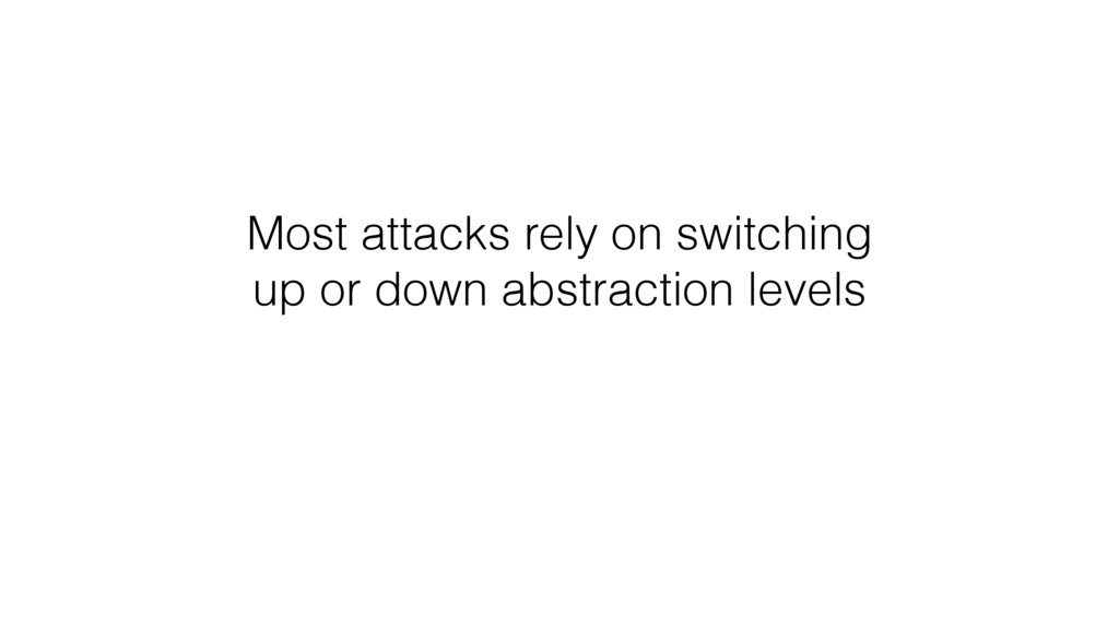 Most attacks rely on switching up or down abstr...