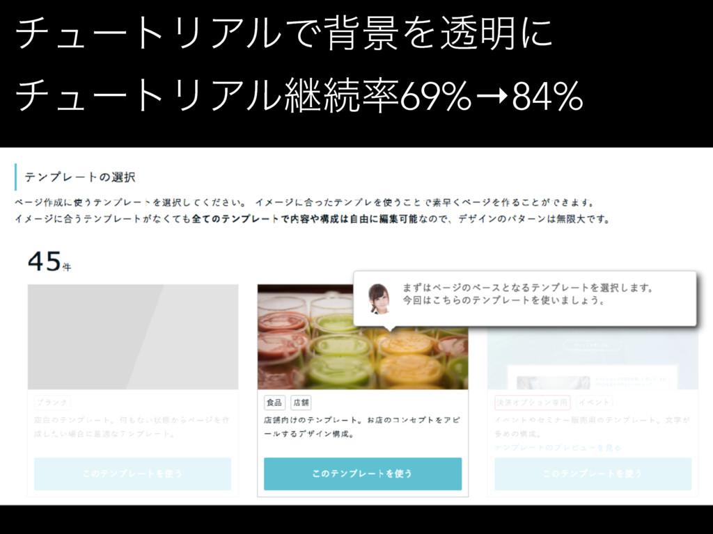 νϡʔτϦΞϧͰഎܠΛಁ໌ʹ νϡʔτϦΞϧܧଓ69%→84%