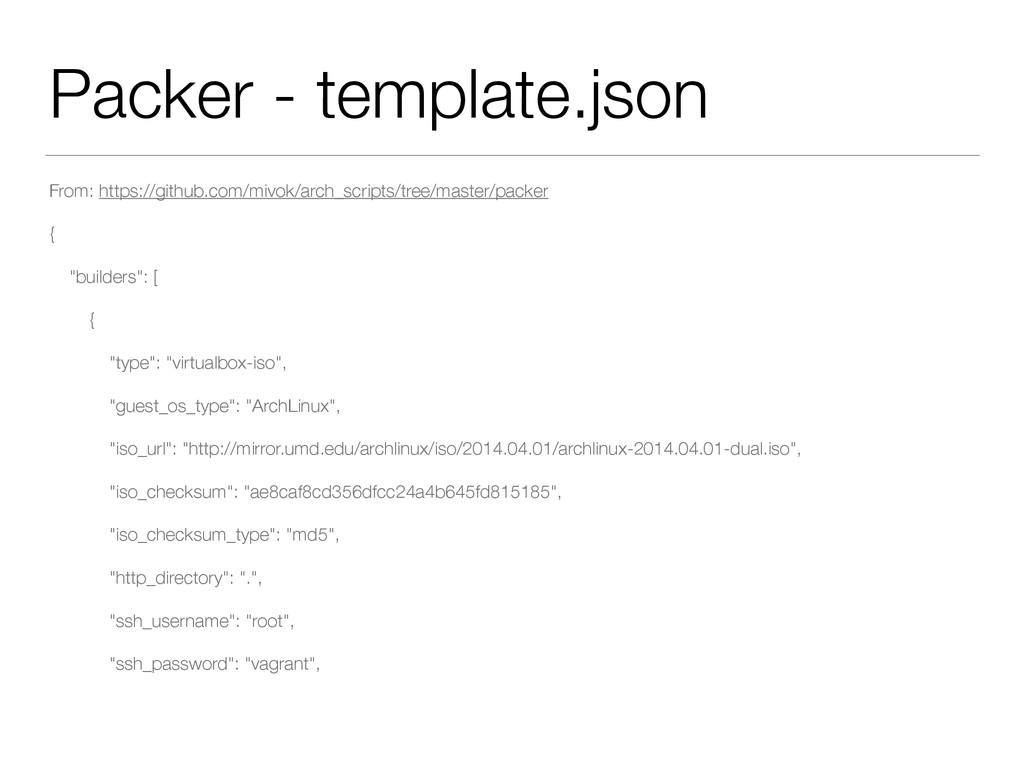 Packer - template.json From: https://github.com...