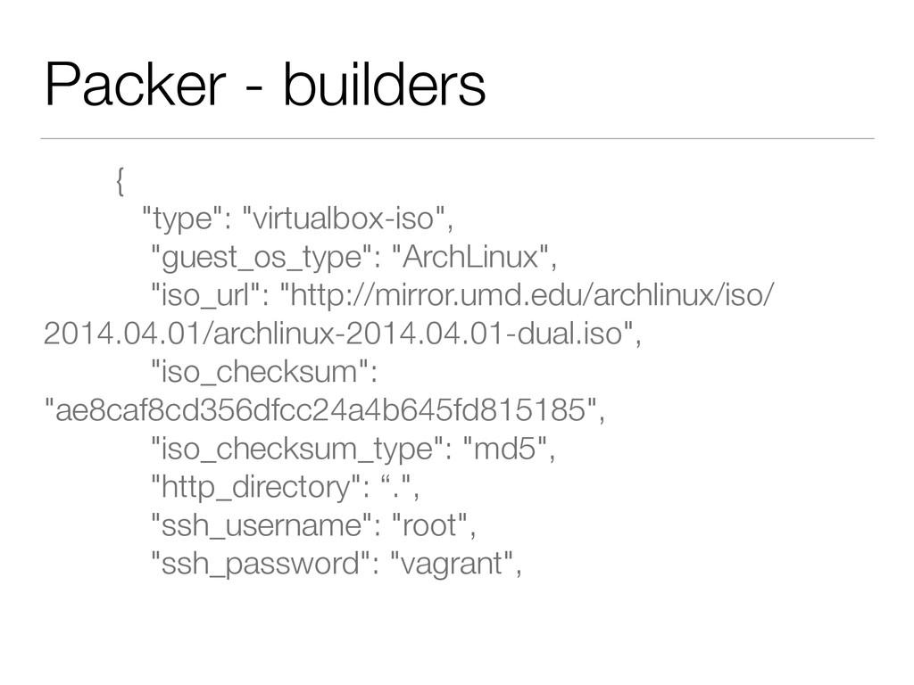 "Packer - builders { ""type"": ""virtualbox-iso"",..."