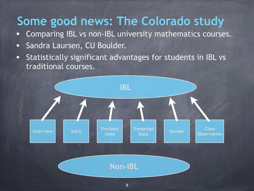 Some good news: The Colorado study • Comparing ...