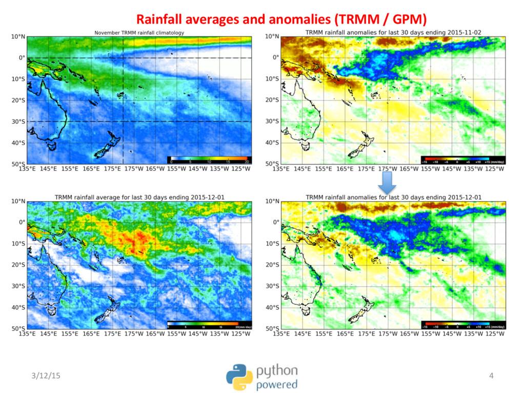 Rainfall averages and anomalies (TRMM / GPM) 3/...
