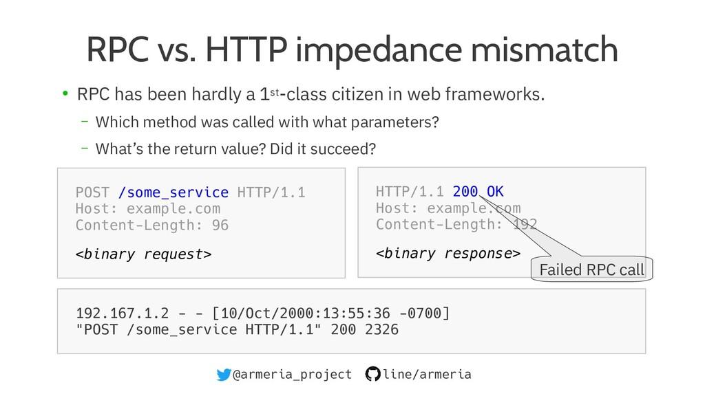@armeria_project line/armeria RPC vs. HTTP impe...
