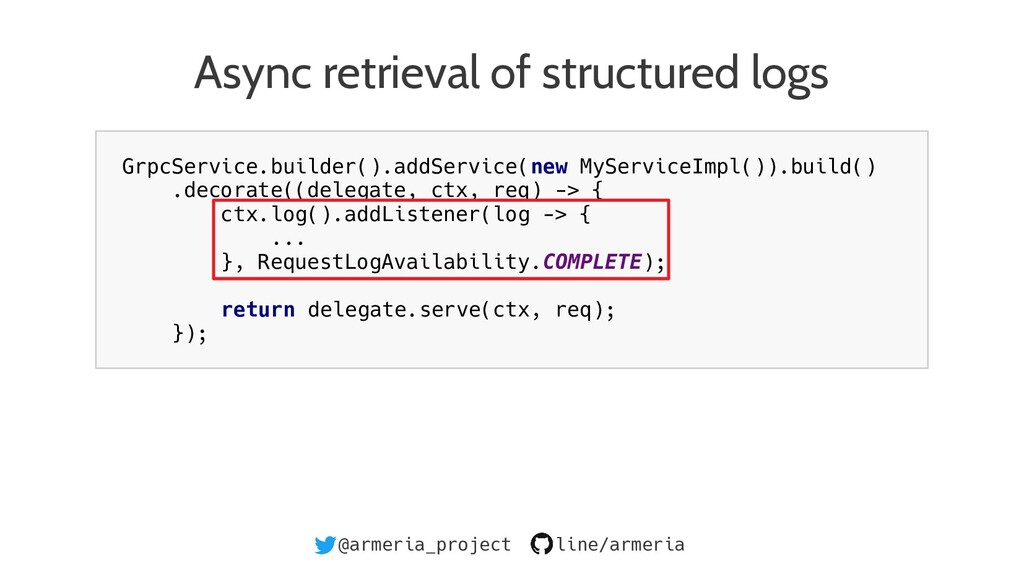 @armeria_project line/armeria Async retrieval o...
