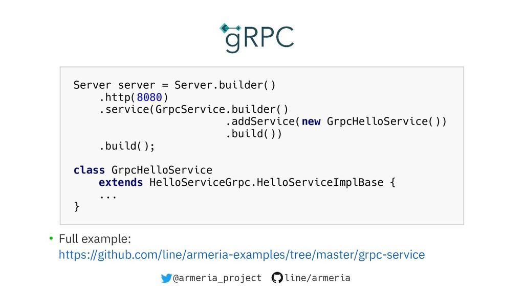 @armeria_project line/armeria Server server = S...