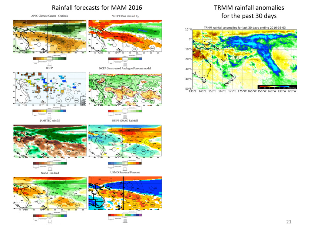 4/03/16 21 TRMM rainfall anomalies for the past...