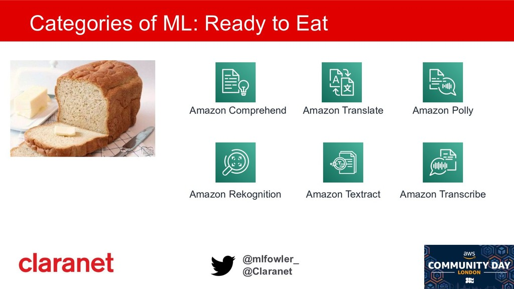 @mlfowler_ @Claranet Categories of ML: Ready to...