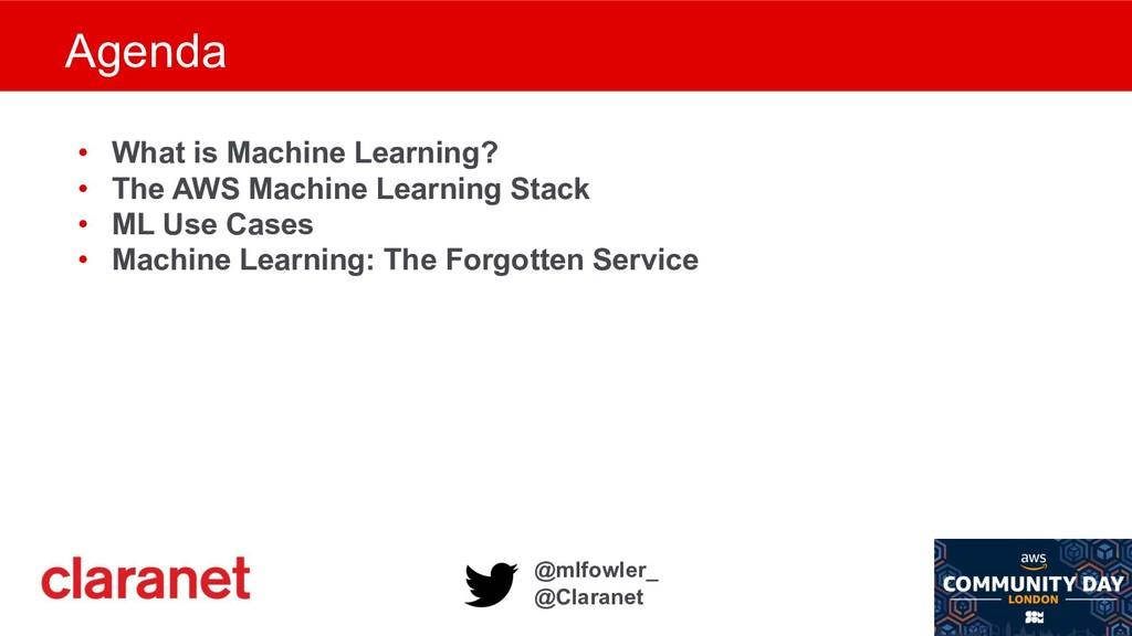 @mlfowler_ @Claranet • What is Machine Learning...