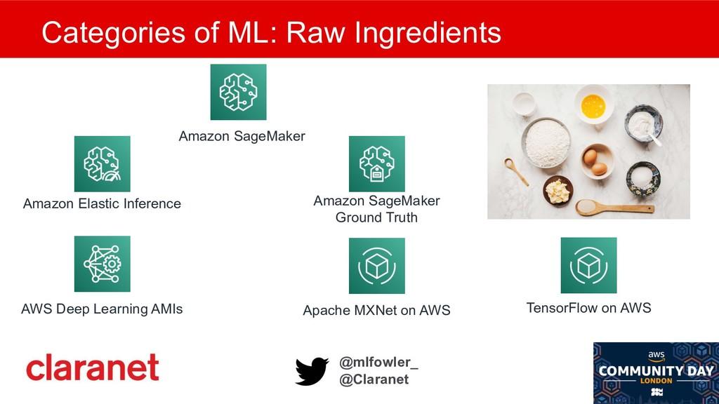 @mlfowler_ @Claranet Categories of ML: Raw Ingr...
