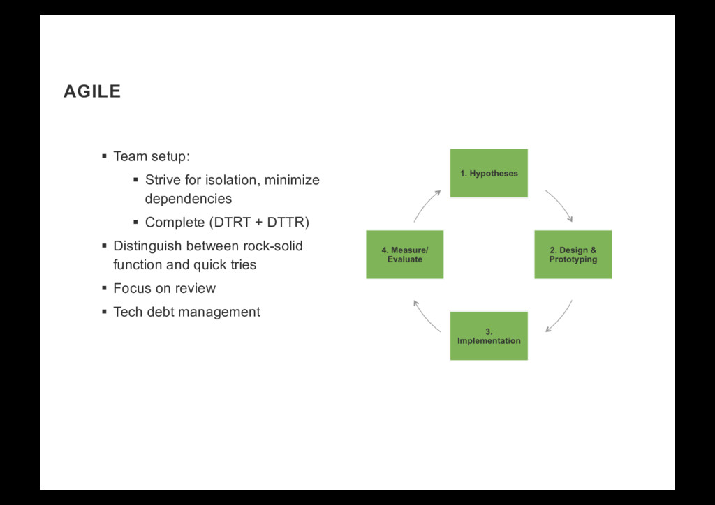 AGILE §  Team setup: §  Strive for isolation, m...