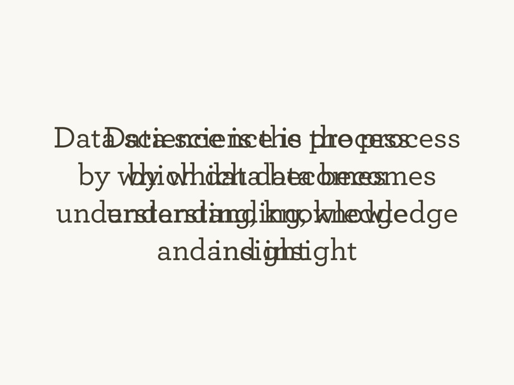 Data science is the process by which data becom...