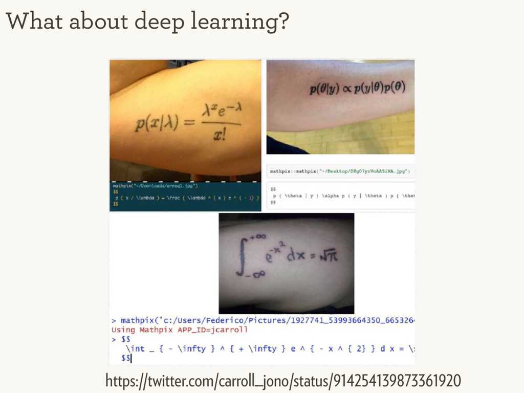 What about deep learning? https://twitter.com/c...