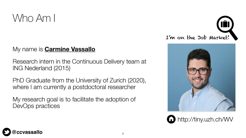 @ccvassallo Who Am I My name is Carmine Vassall...