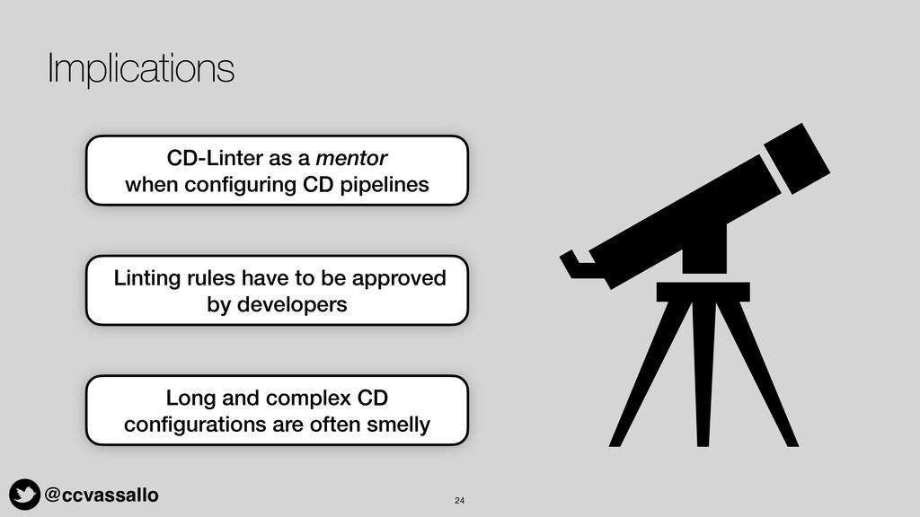 @ccvassallo Implications 24 CD-Linter as a ment...