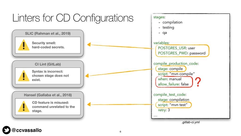 @ccvassallo Linters for CD Configurations 6 sta...