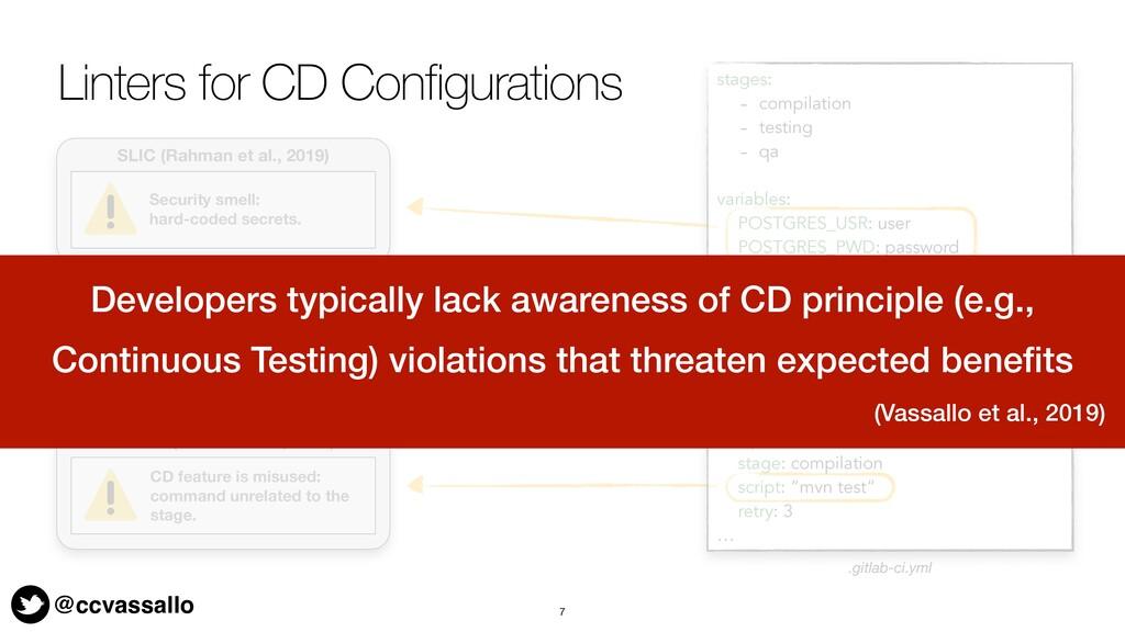 @ccvassallo Linters for CD Configurations 7 sta...