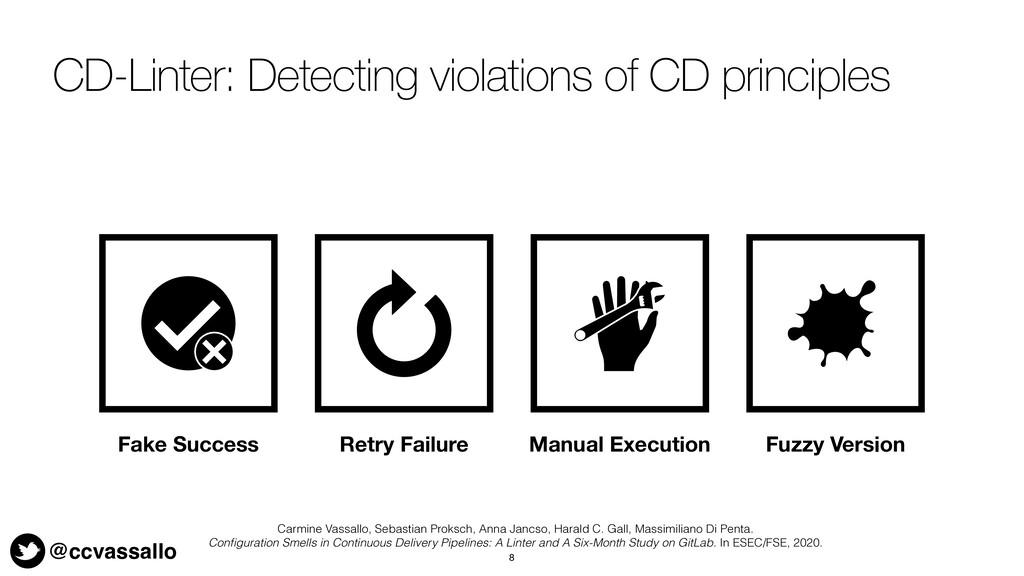 @ccvassallo CD-Linter: Detecting violations of ...