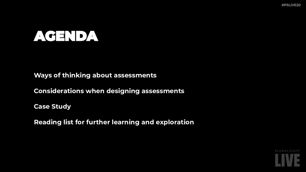 Ways of thinking about assessments Consideratio...