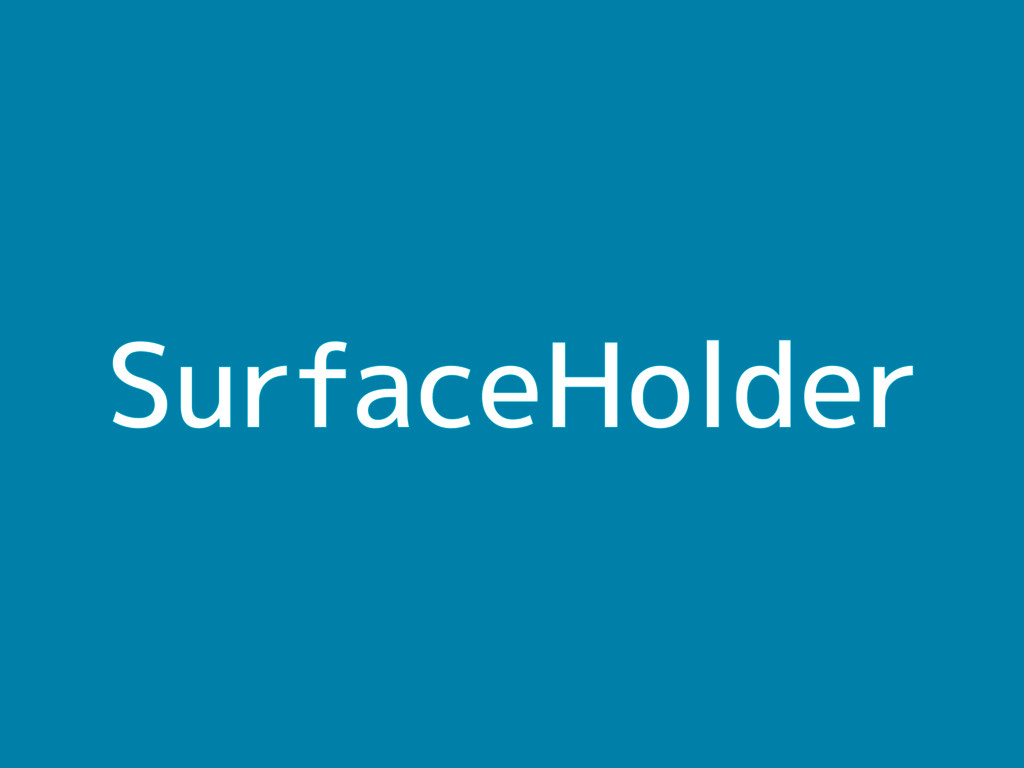 SurfaceHolder