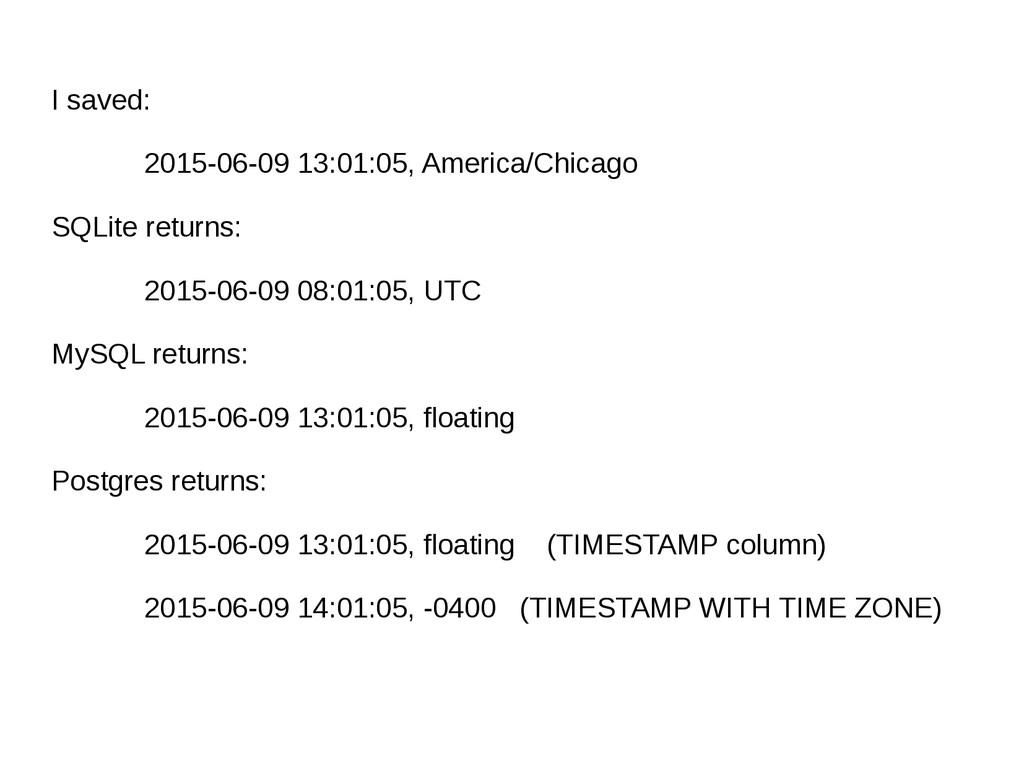 I saved: 2015-06-09 13:01:05, America/Chicago S...
