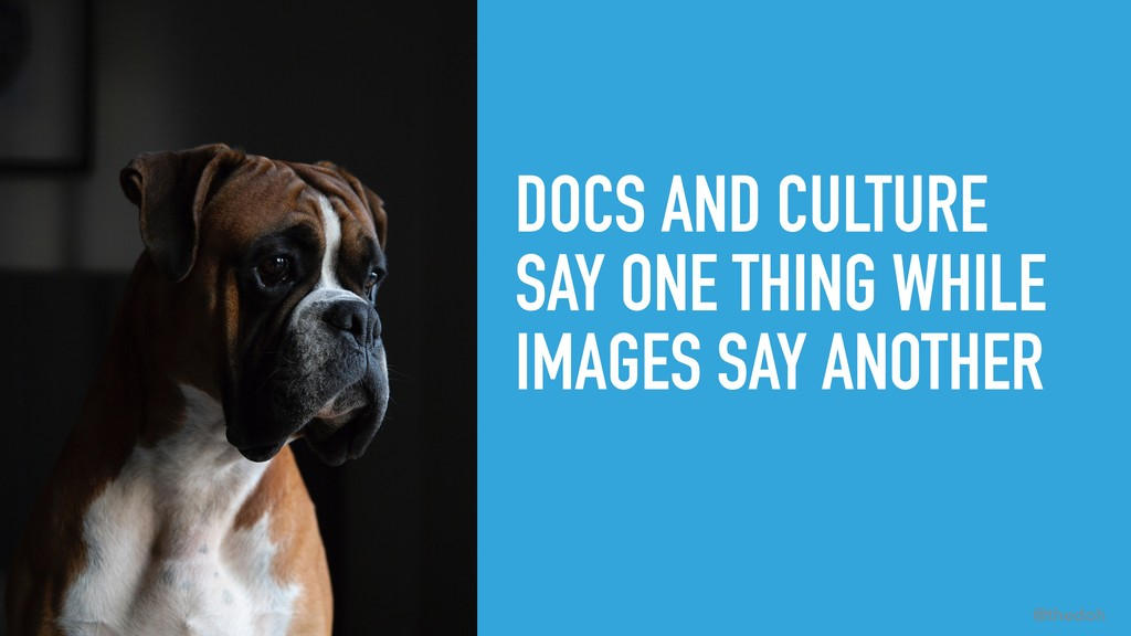 #LISA19 @thedoh DOCS AND CULTURE SAY ONE THING ...