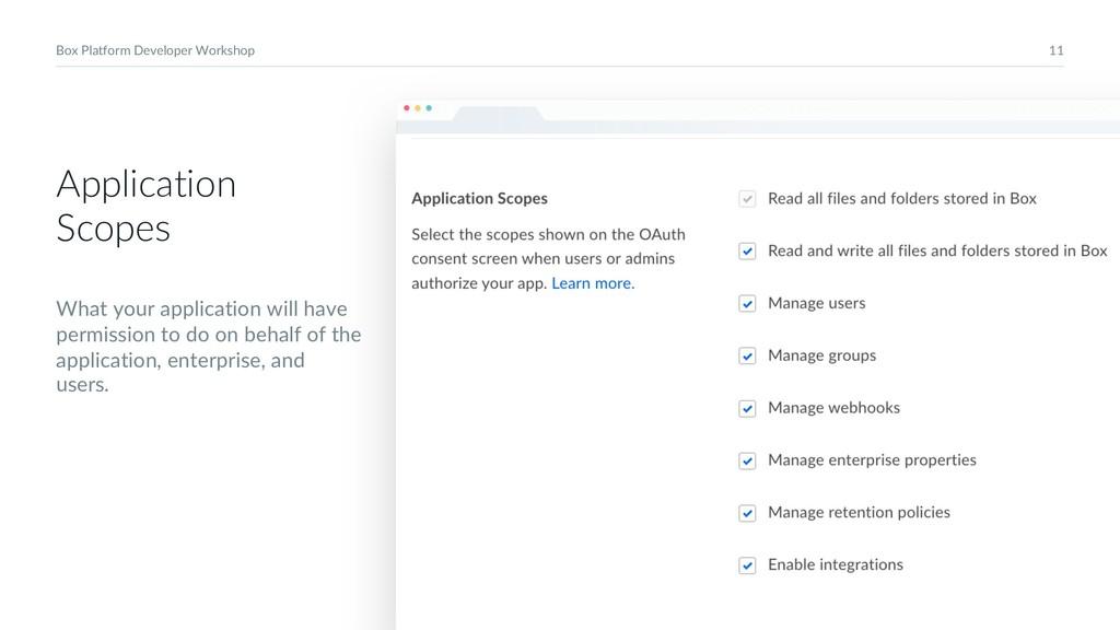 11 Box Platform Developer Workshop Application ...