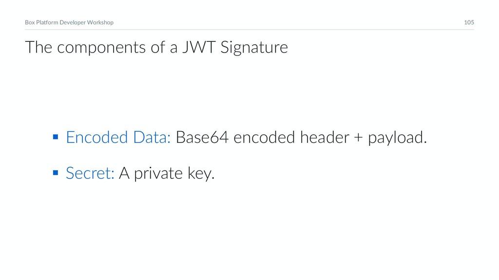 105 Box Platform Developer Workshop § Encoded D...